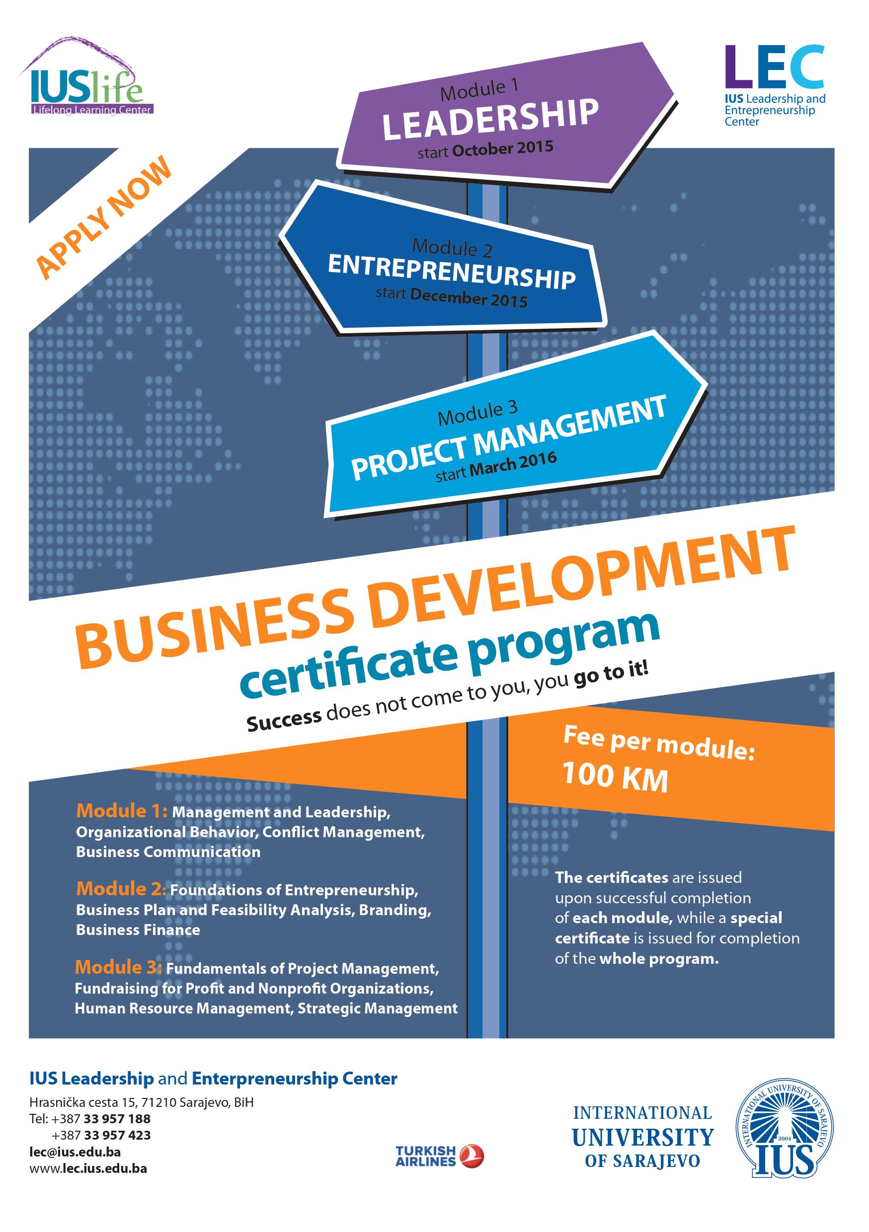 Apply Now For Business Development Certificate Program Ius